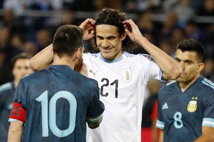 Cavani et Messi