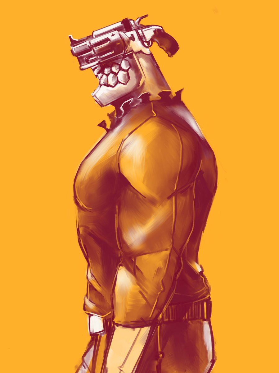 Hyprknetc On Twitter This Guy Wow Yes Nogunslife Junzo Cyberpunk Gunhead Anime Fanart Procreate Digitalart