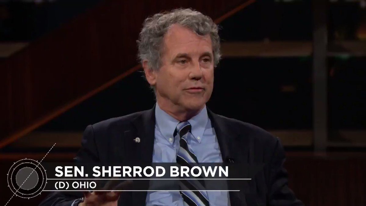 A lot of senators that I talk to, Republican senators...quietly, they'll say Trump doesn't tell the truth...some of them will say Trump's a racist... They're not likely going to do anything about it. –Sen. Sherrod Brown #RealTime