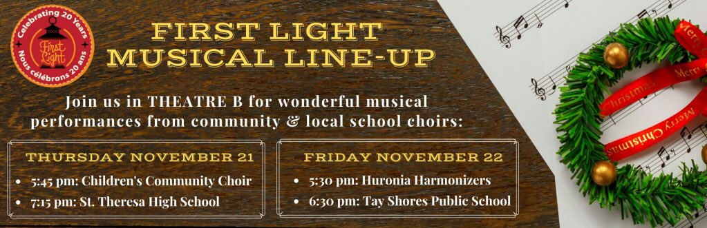 Many choirs hit the theatre stage to show off some festive favourites!  That's just inside. Visit the super talented musicians gracing our historic buildings and filling the glowing air with sweet sounds! First Light at Sainte-Marie begins this Thursday evening!  @SainteMarie_hhp https://t.co/Scn8EPr7r9
