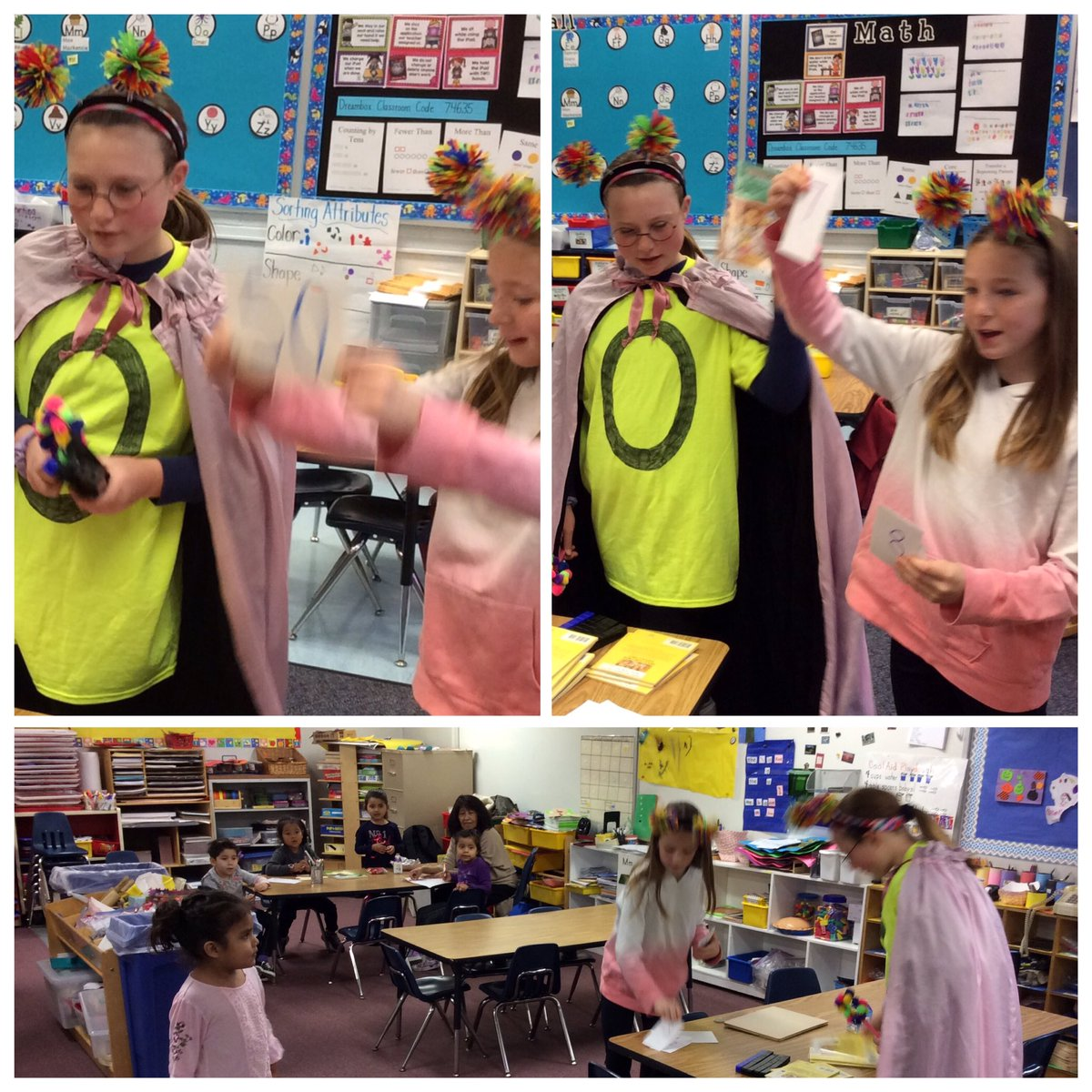 Zero the Hero and her assistant helped the Pre-K and K classes <a target='_blank' href='http://twitter.com/CampbellAPS'>@CampbellAPS</a> celebrate the 50th Day of School!  <a target='_blank' href='http://twitter.com/OConnor4_5'>@OConnor4_5</a> <a target='_blank' href='http://twitter.com/ThinkCampbell'>@ThinkCampbell</a> <a target='_blank' href='http://twitter.com/APSMath'>@APSMath</a> <a target='_blank' href='http://twitter.com/MsSokol1'>@MsSokol1</a> <a target='_blank' href='http://twitter.com/wadeturneraps'>@wadeturneraps</a> <a target='_blank' href='https://t.co/A9TD6KA6qM'>https://t.co/A9TD6KA6qM</a>