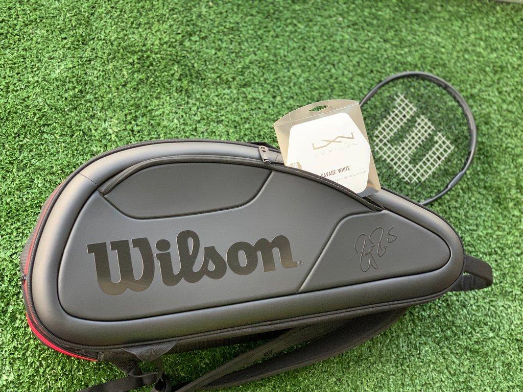Y ahora: El Kit 👑#WilsonTennis #RogerFederer #WilsonProStaff