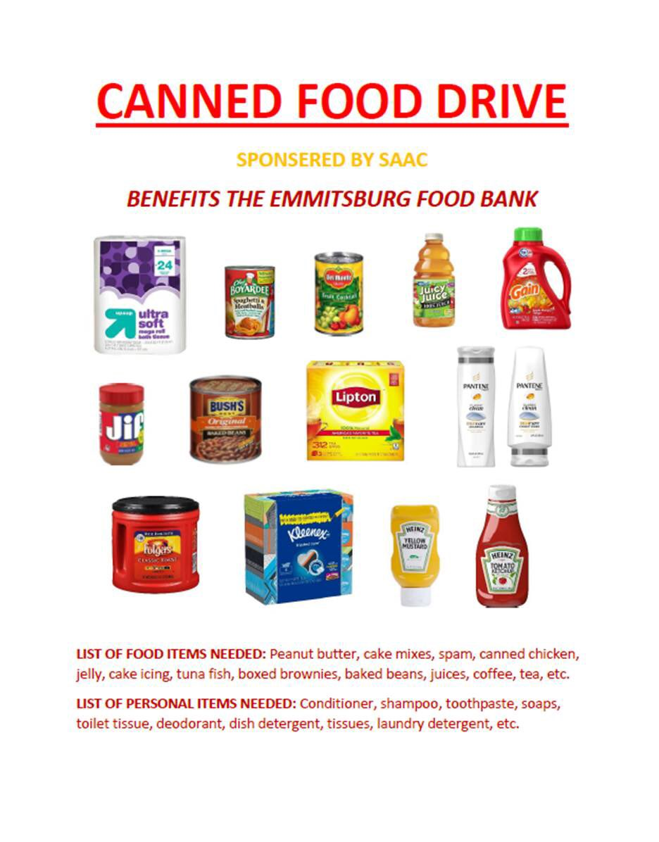 Canned Food Drive Week! Look for our bins around campus! Don't forget to get in touch with your SAAC reps as there are prizes for the team who brings in the most cans per person and members of each team who bring in the most cans! #GoMount #oneCANmakeadifference  <br>http://pic.twitter.com/3QxT6xwPTR