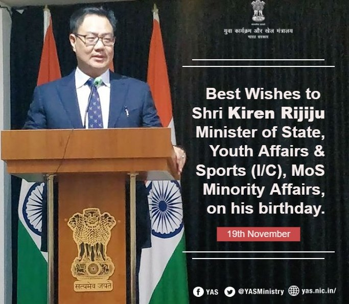 Warm birthday greetings to Shri @KirenRijiju Ji. 💐Keep inspiring the #Youth of India!