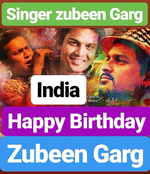 HAPPY BIRTHDAY  Zubeen Garg FAMOUS INDIAN SINGER