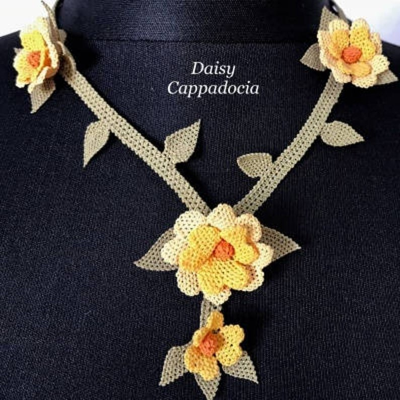 ANEMONE Necklace made by Turkish Needle Lace listed on #Etsy! Our works are all #handmade by local ladies and it is our purpose to introduce them to the world and support their work. #Turkey #Oya https://www.etsy.com/listing/521755861/turkish-ine-oya-lace-needle-lace-silk?ref=listings_manager_grid…