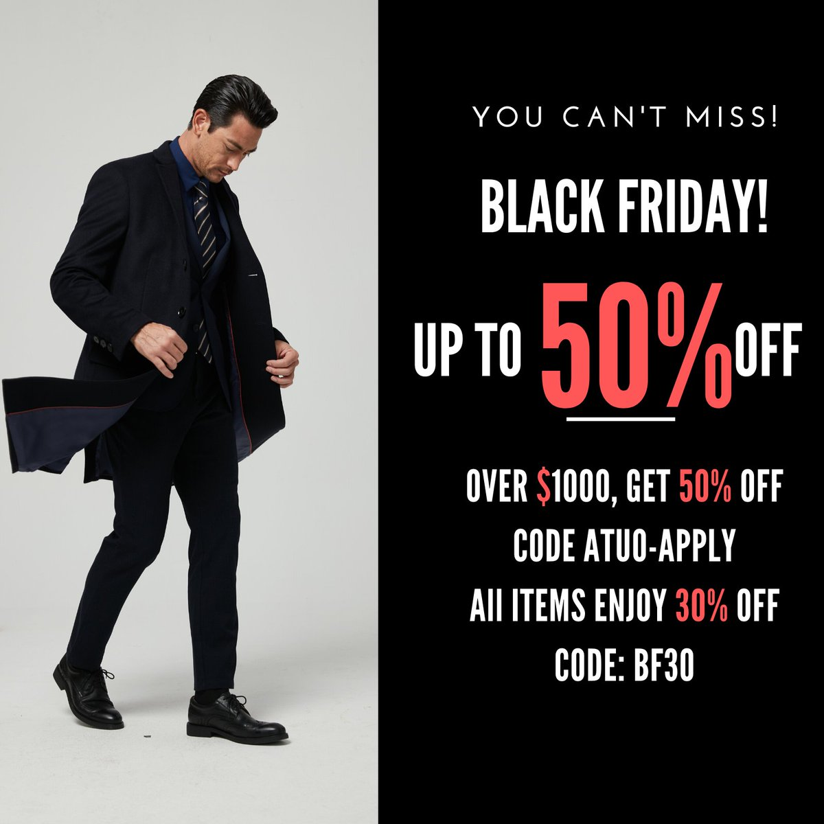 MatchU Black Friday Sale Starts Now!#mtm #match #casualoutfits #casualsuit #suitandtie #menstyleguide #londonfashionblogger #londonstreetstyle #welldressedmen #mensuitstyle #suited #suitedandbooted #ootd #photooftheday #instagood #menswear #matchutailor