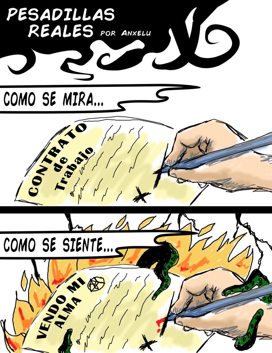 Un poco de humor para ustedes... #humor #comic #historieta #viñeta #realidad #contrato #desempleado #empleado #godin #Godinez #RH #dibujo #lovecraft #pesadilla #real #comico #humoristico #gracioso #lunes