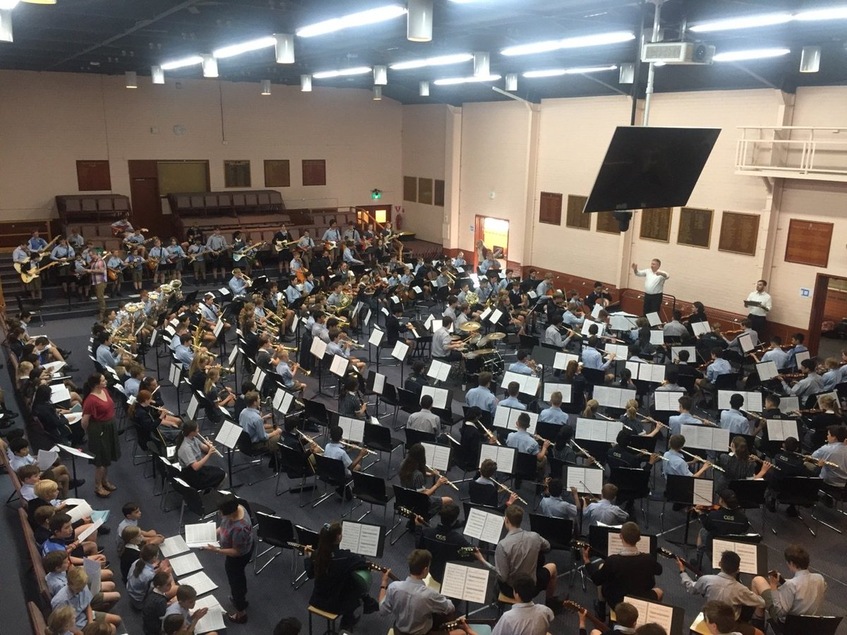This morning we had our first massed music rehearsal for our upcoming Presentation Night. Years 3 to 12 instrumentalists and choirs are sounding great!