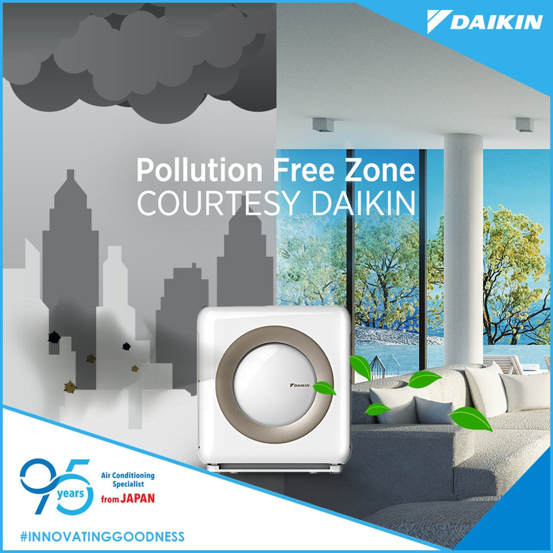 Unmask and breathe freely every time you step inside courtesy a Daikin Air Purifier. InnovatingGoodness https t
