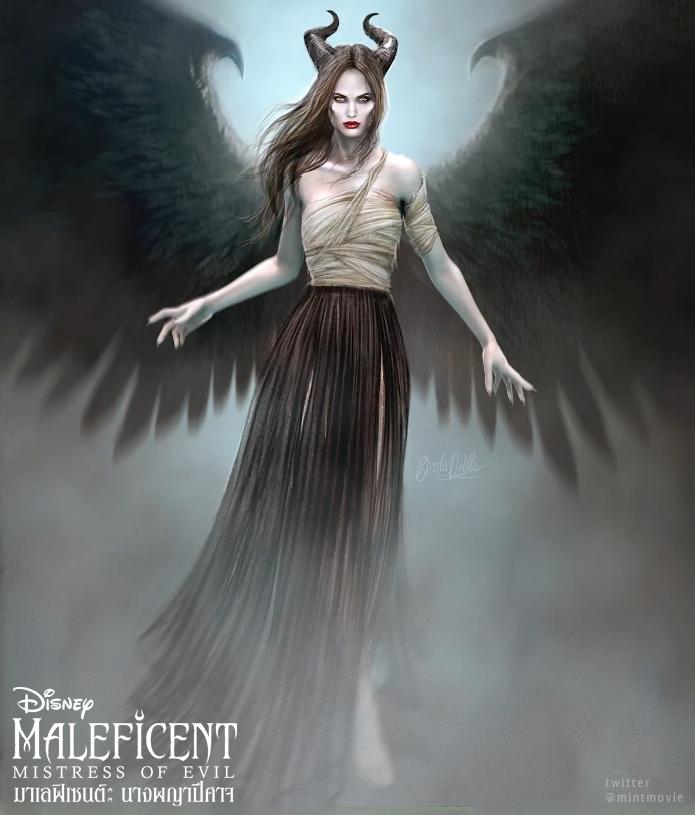 ภาพงานออกแบบคอสตูมจาก #MaleficentMistressOfEvil ที่ออกแบบโดย Ellen Mirojnick ส่วนศิลปินที่วาด Concept Art นั้นก็คือ Brooke Dibble #MovieTwit #Maleficent2