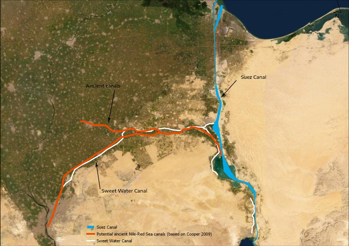 test Twitter Media - Historically, a canal & series of lakes connected the Red Sea to the Nile. Opening the #SuezCanal 150 yrs ago enabled direct navigation between the Red Sea & the Mediterranean. Our @MarEA_project is documenting the canal's historic landscapes & importance in the maritime world https://t.co/zVQTisHgAk