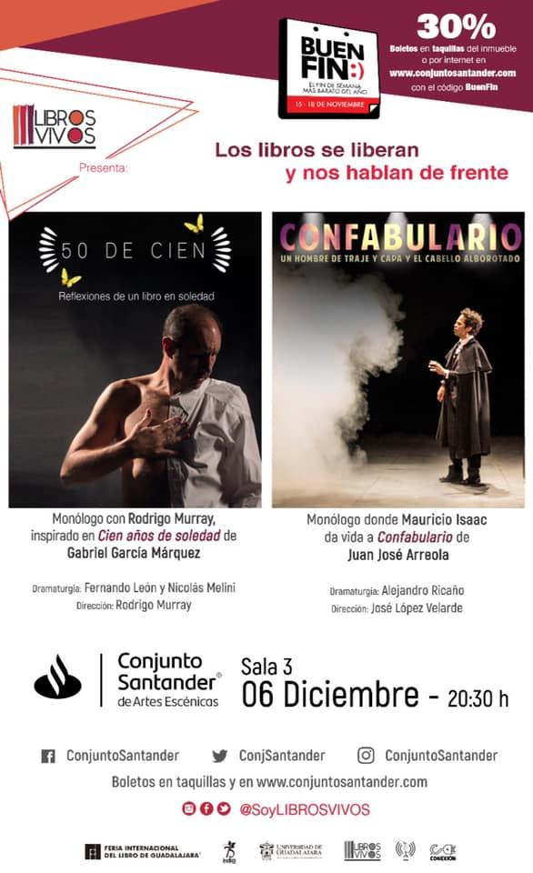 #teatro #monologo #cienañosdesoledad #gabrielgarciamarquez @soylibrosvivos @libreros #literatura #rodrigomurray #juanjosearreola #fernandoleonrodriguez #nicolasmelini #Guadalajara #Mexico