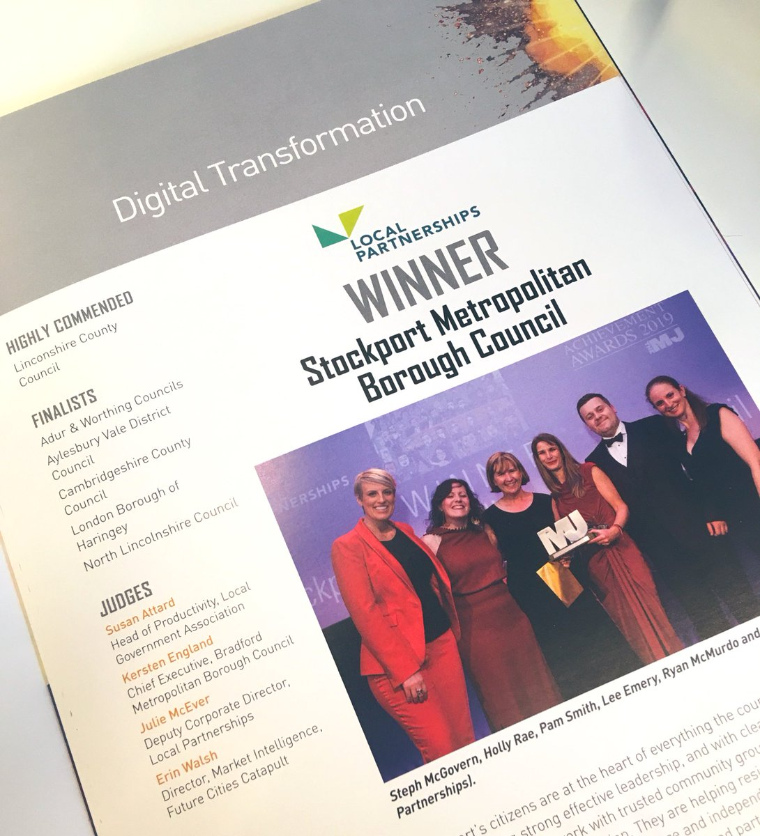 This #OurDay we're celebrating the successes of @StockportMBC   The Council's #DigitalTransformation and sustainable movement for digital inclusion helps residents develop digital skills and deliver savings for the Council... Winner of MJ Awards 2019   #councilscan