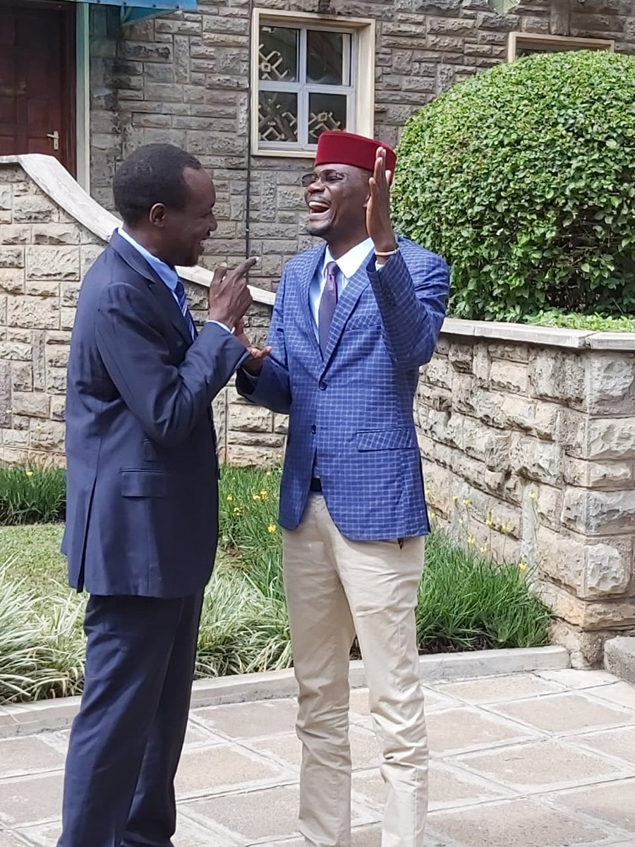 Simba Arati and Didmus Barasa recalling the fun times they had at #Kibrabyelection. <br>http://pic.twitter.com/UCg1o45d2l