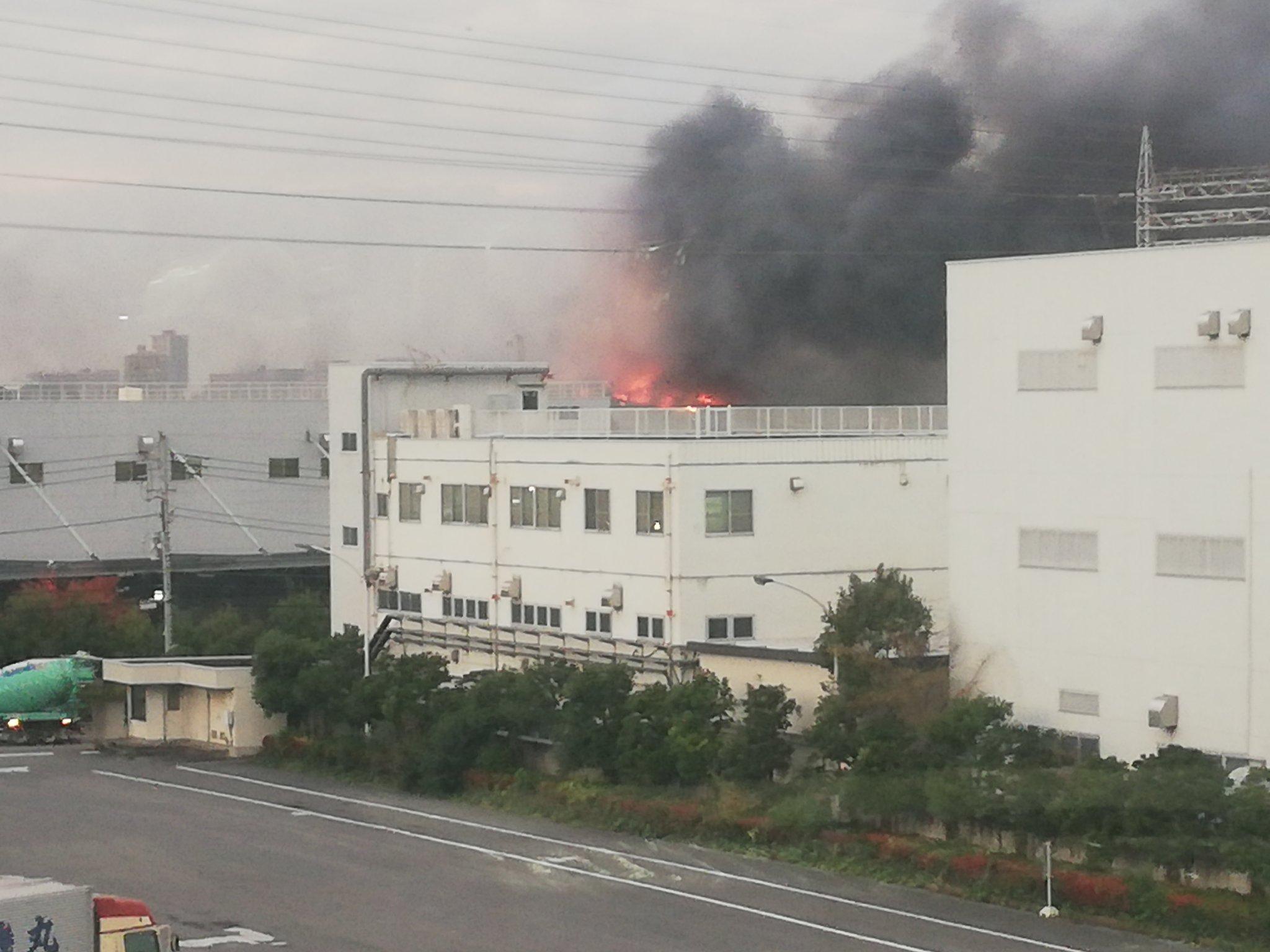 板橋区舟渡で大規模火災が起きている現場画像