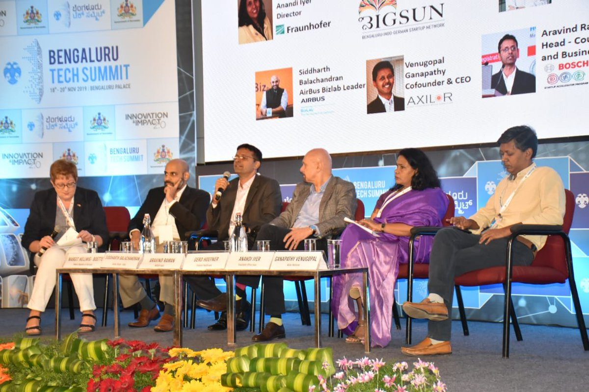 test Twitter Media - Day 2 of the #BlrTechSummit!  Attended a productive session on #ArtificialIntelligence - Driver of Sustainability moderated by German Consul General, Ms. Margit Hellwig-Bötte. Also interacted with Gadget Guru, Mr. @RajivMakhni of 'Tech Makhni' fame.  #DrAshwathAtBTS https://t.co/8IfhgUYdCc