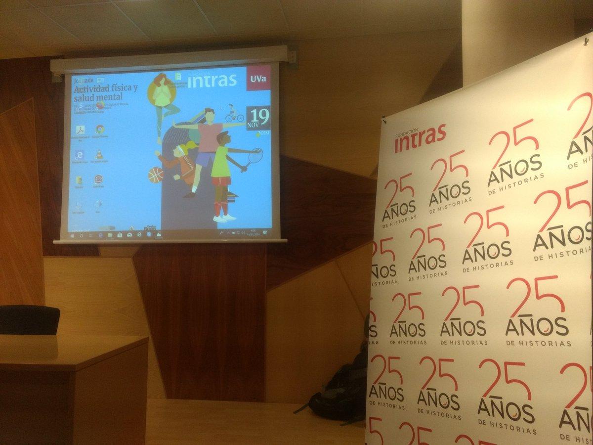 ¡¡¡Arrancamos!!! Apasionantes Jornadas sobre #ActividadFisica y #SaludMental organizadas por @fintras en la @UVa_es