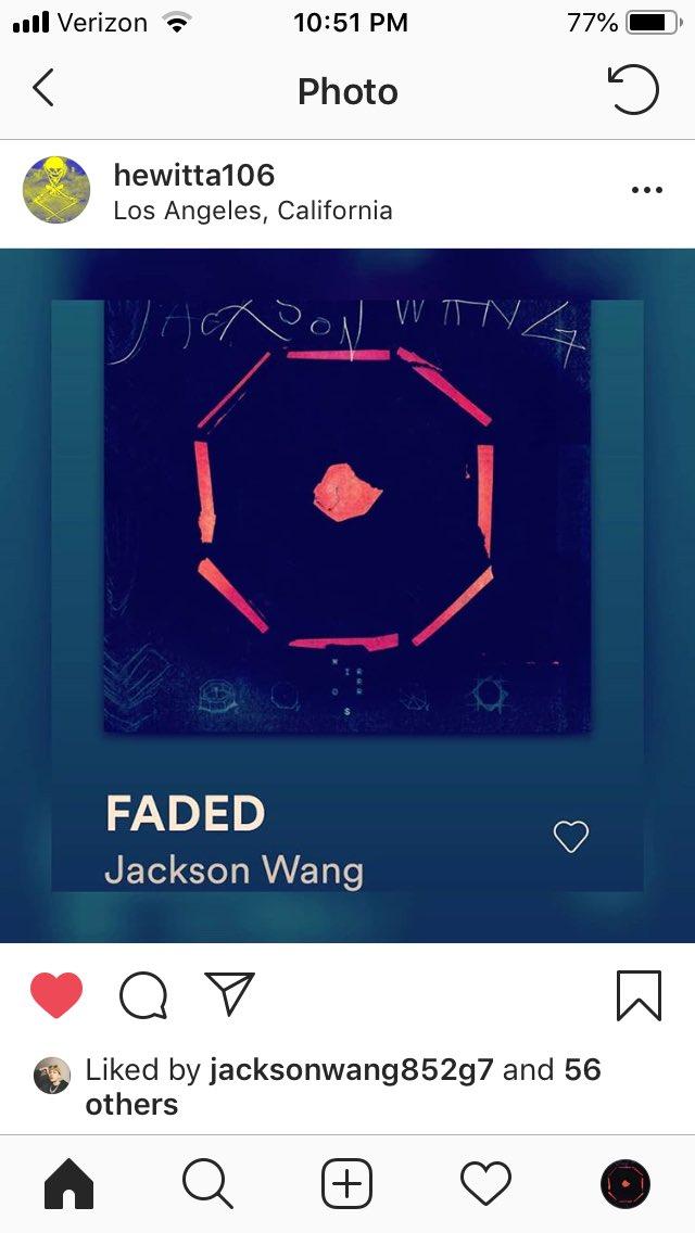 hewitta106 co-produced Faded w/ Jackson & left a heartfeltmsg on IG  & Jack liked  Seems a genuine guy Pls go like & comment  He's also the 1 posted Jackson's LA billboard, pic4  #MIRRORS #JacksonWang1stAlbum #Faded #JacksonWang #잭슨 #王嘉尔 #TeamWang #GOT7  @JacksonWang852<br>http://pic.twitter.com/8dnXRoRxgA