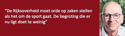 Het onderdeel 'Sport en Bewegen' van de begroting van VWS 2020 doet te weinig, vindt Paul Kok @HKStrategies_NL > https://t.co/i9wtYzt3If https://t.co/PK7POXbTTZ
