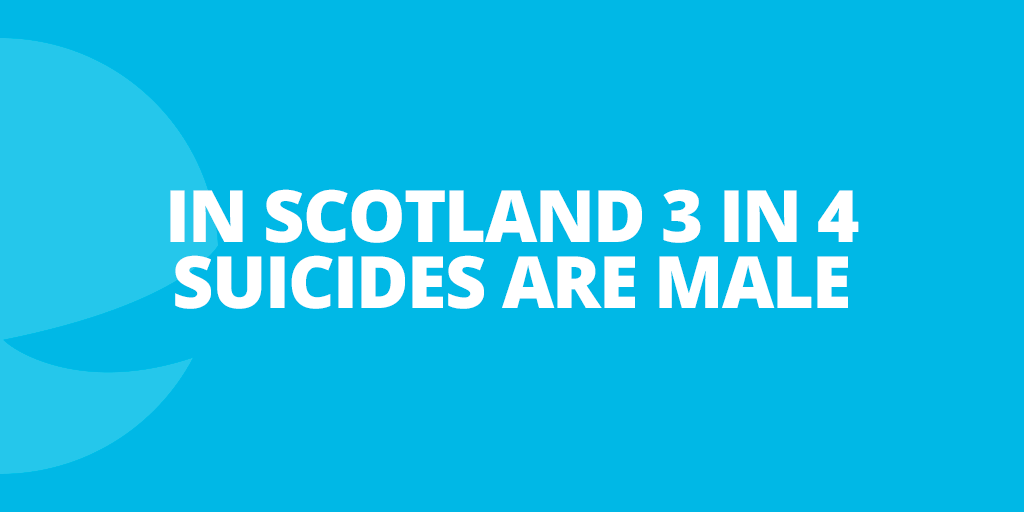 """See Me on Twitter: """"In Scotland 3 in 4 suicides are male. We need to break  the stigma and make sure men of any age know that it's okay not to feel"""