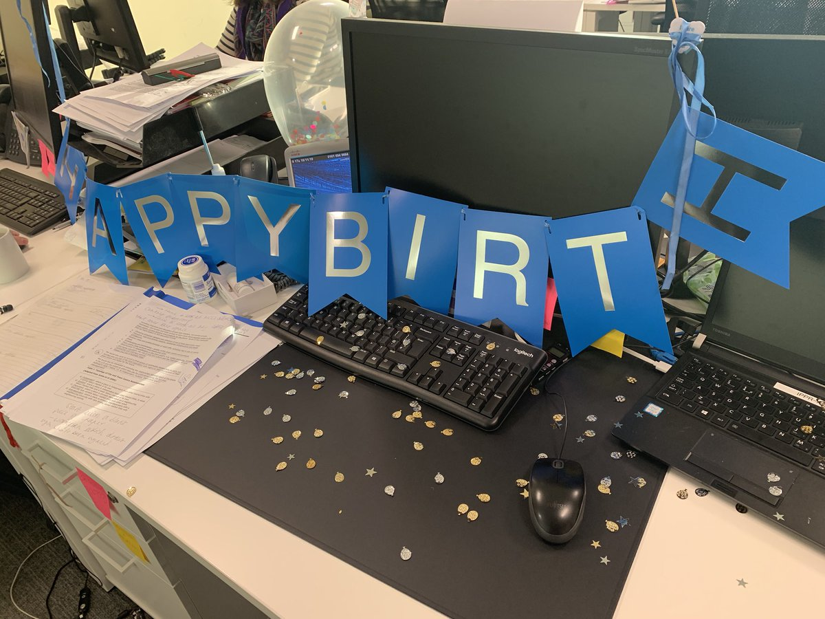 """""""Happy Birth"""" is the best birthday greeting. I work with the best people!!!"""