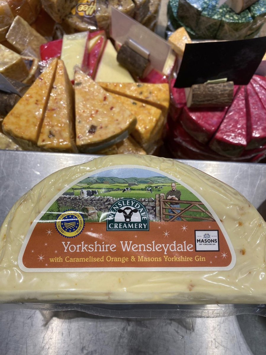 Oooh What's this? New Cheese? With GIN? 🧀😋 Oh Yes!! #yorkshirecheese #cheeseandgin #cheeselovers #shoplocal @LeedsMarkets