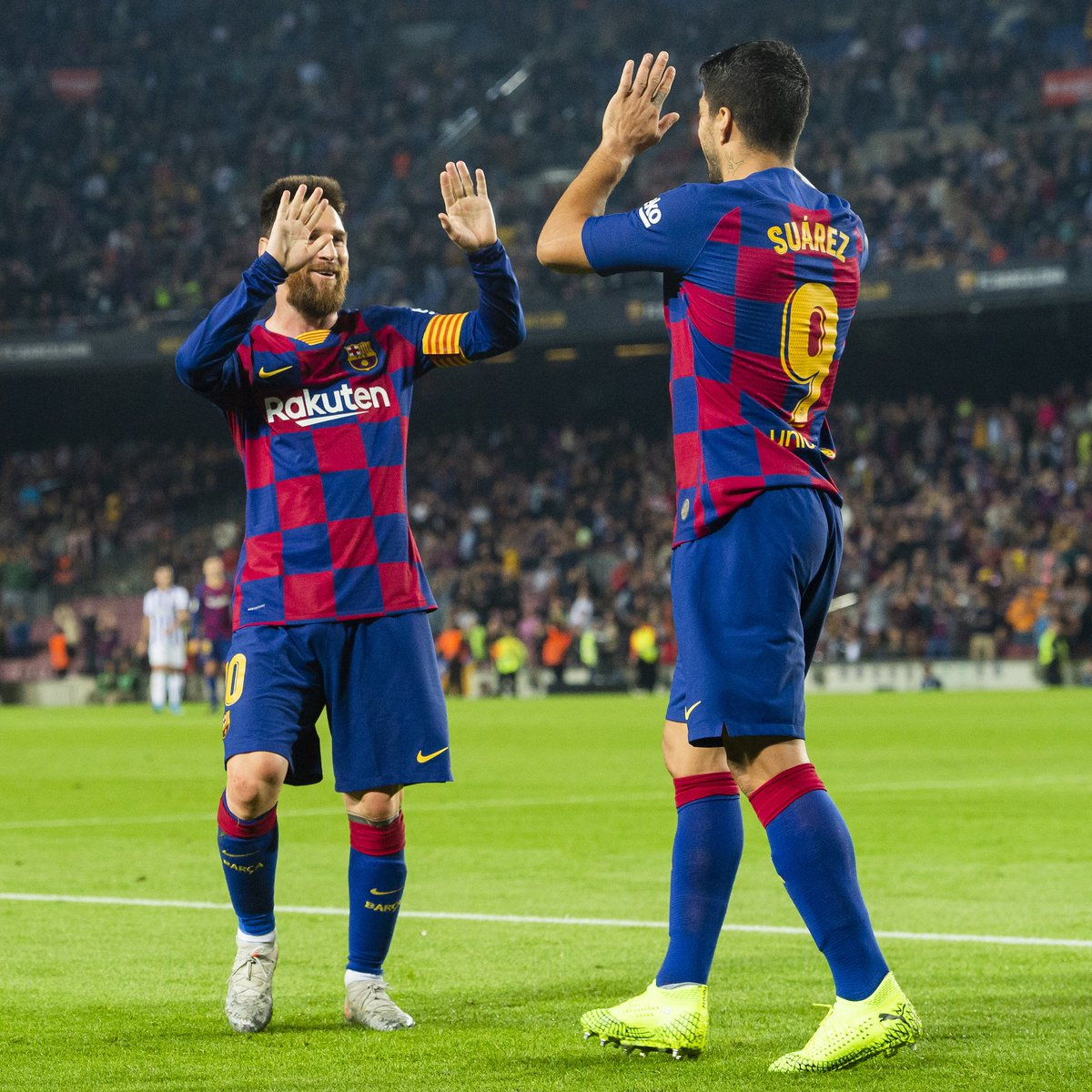 ALL SQUARE   (1 Goal, 1 Assist for Leo  #Messi)   (1 Goal, 1 Assist  for  @LuisSuarez9)