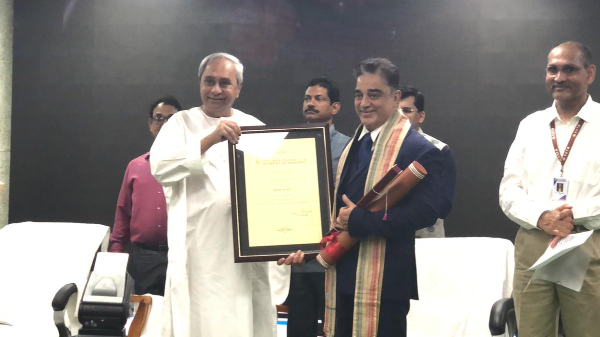 #Ulaganayagan #KamalHaasan received the Honorary Doctorate Degree from Centurion University of Technology & Management. <br>http://pic.twitter.com/BOyimgA2oZ