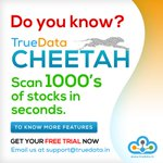 Image for the Tweet beginning: Do you know? #TrueData #Cheetah scan