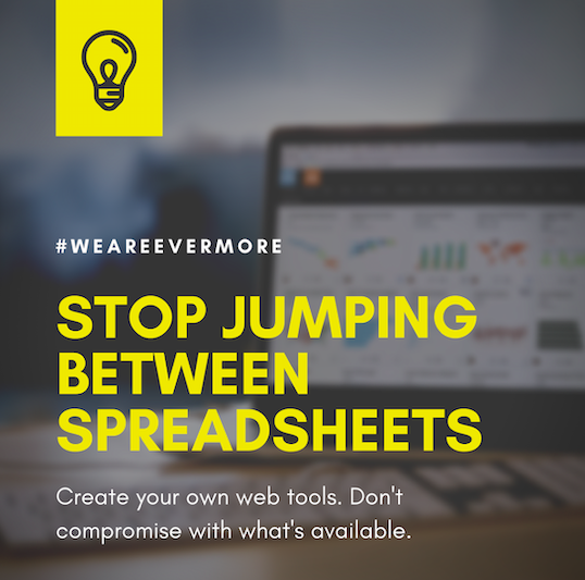 Are you sick of jumping between #spreadsheets, trying to figure out how to analyse and visualise the tons of #data available? Say no more. We can help you #transition.  #digital #digitaltransformation #webdev #webtools #UI #developmentpartner #provider #vendor #change #business<br>http://pic.twitter.com/ddAdJ68RUo