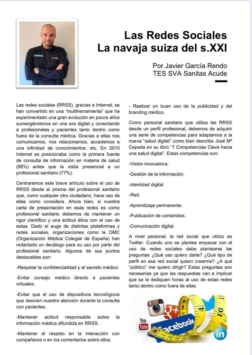 ¿Quieres saber lo inquieto que es Javi García @DiarioTES? Aquí nos deja su increíble aportación a #tesenformaLAREVISTA!Próximamente el segundo número!!!  ¿Has leído Batallas de una ambulancia? No te lo pierdas!  #prevencion #superacion #equipo #actividadfisica #fuerza #tesvisible