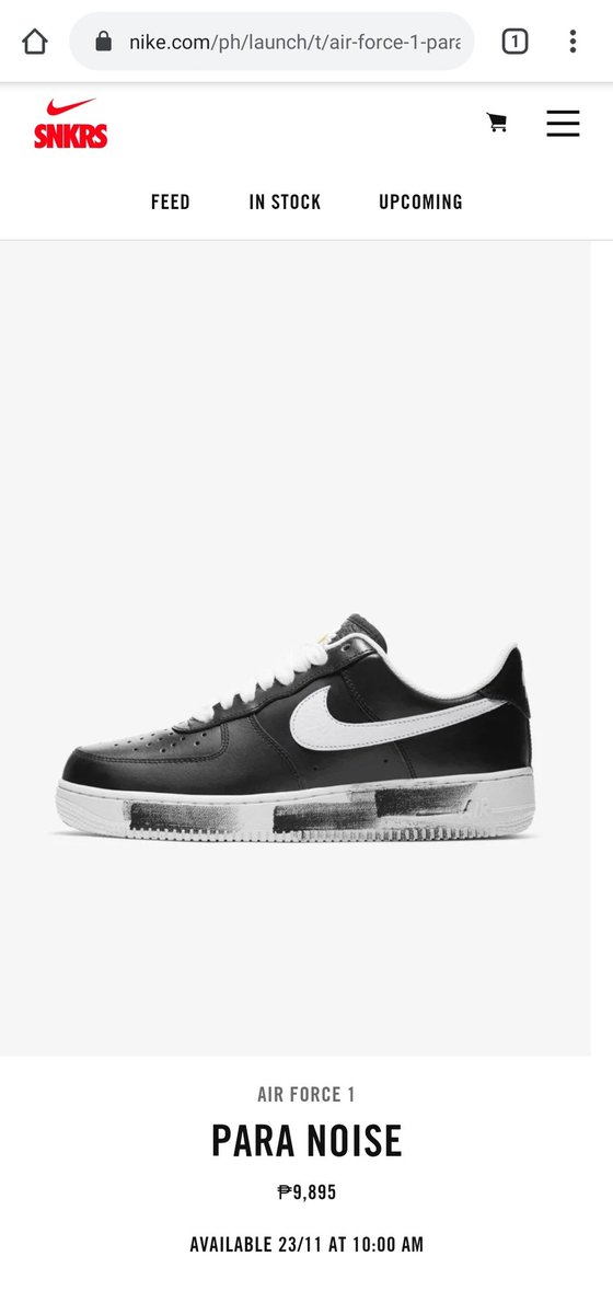 Nike PH Website!   Air Force 1 PARA NOISE by @IBGDRGN  Available on November 23 at 10:00 AM  Price: Php 9,895 <br>http://pic.twitter.com/7OFtPvUSaW