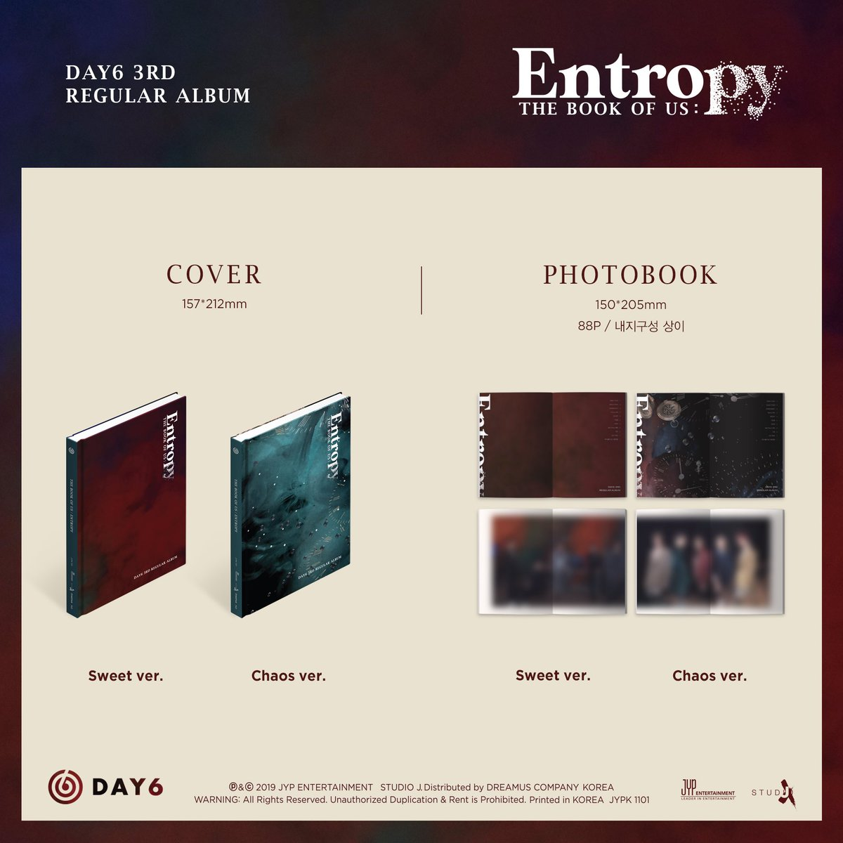 [SOON TO BE ONHAND/PH MINI GO] DAY6 'THE BOOK OF US: ENTROPY' Regular Album with POBs (Film Photocard and Poster)  985php + lsf  ETA: This week Reservation of 75% dp is allowed for STBOH  DM <br>http://pic.twitter.com/c3D2hi6NXS