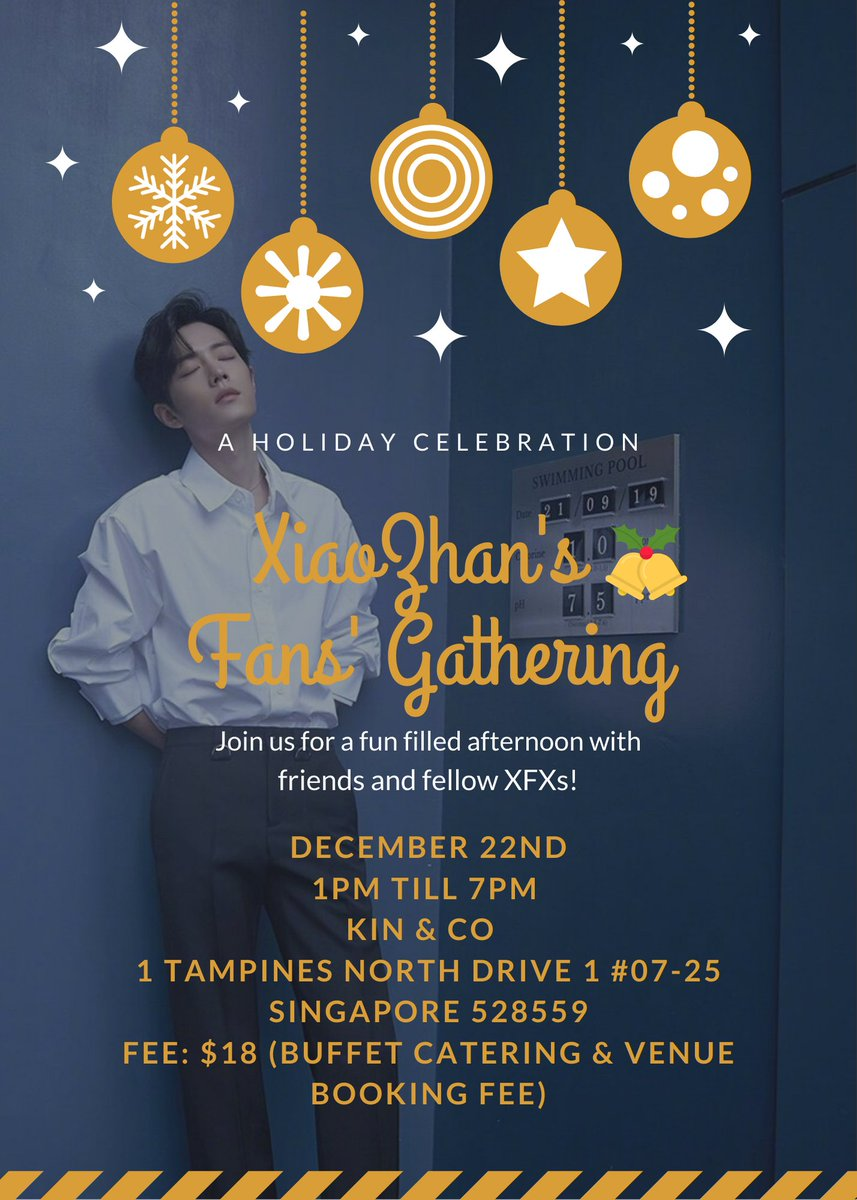 [Singapore SG] Help #RT   #XiaoZhan's Fans' Gathering! Hello! As many of you didn't manage to attend the previous gathering during his birthday, we have decided to plan another gathering to have fun together!  Info & Registration:  https:// forms.gle/QVqq1xL7DUvX7R Pi7  …   #XiaoZhan肖战 #肖战<br>http://pic.twitter.com/utR75lxQRe