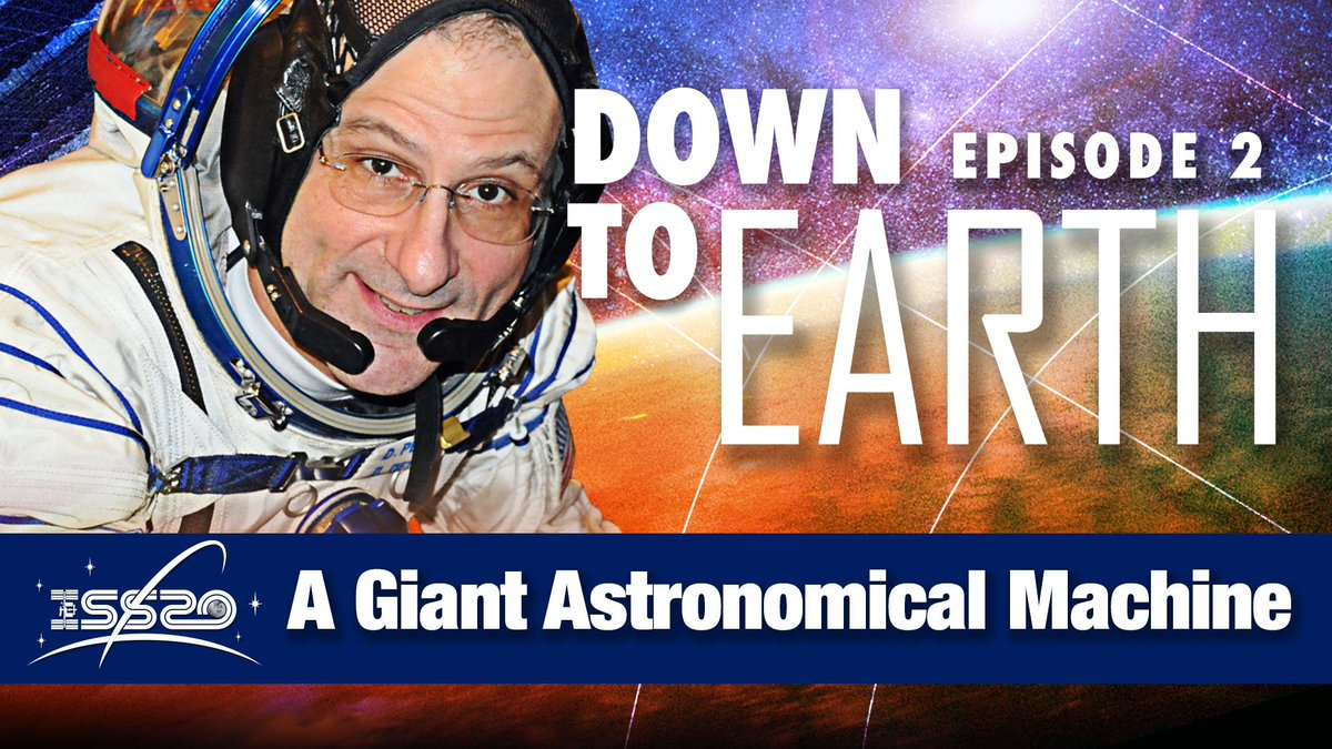 "In this episode of ""Down to Earth - A Giant Astronomical Machine,"" @Astro_Pettit explains how his perception of the Earth changed during his time aboard the space station. #SpaceStation20th"