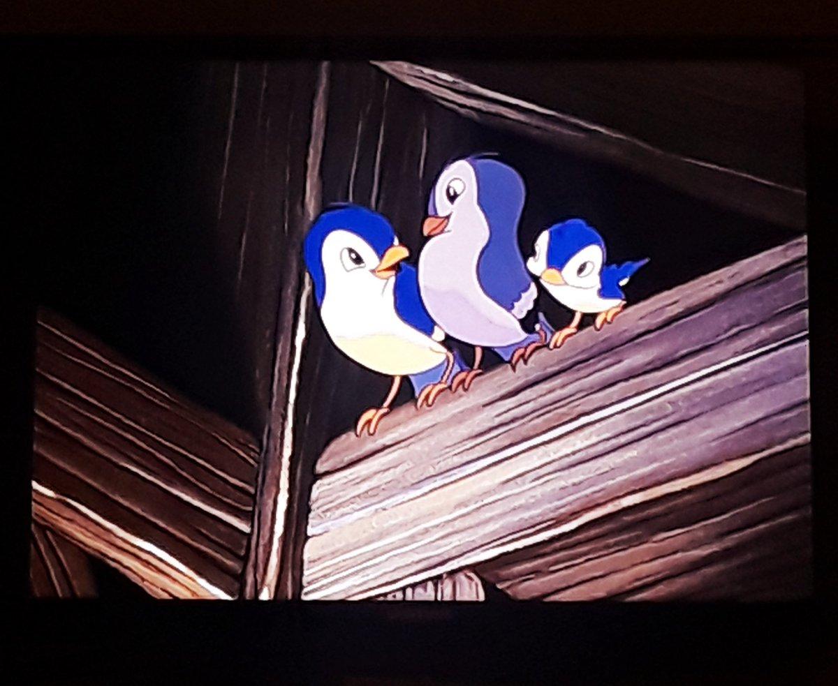 These birbs are dicks. I love them. #SnowWhiteandtheSevenDrawfs #DisneyPlus #birbs #kindredspirits