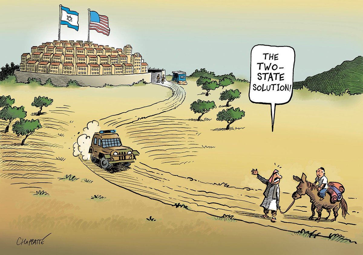 The USA consider Israeli settlements legal - © Chappatte in Le Temps, Switzerland