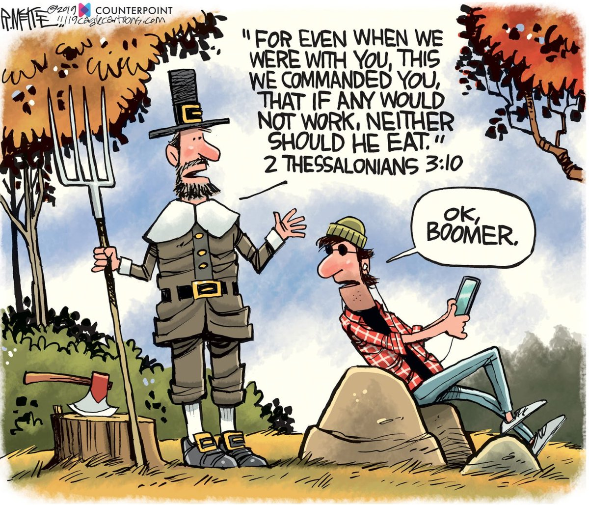 Our new release is out today! Check it out at counterpoint.com Thoughts on this toon? Cartoon by: @AUG_RickMcKee #okboomer