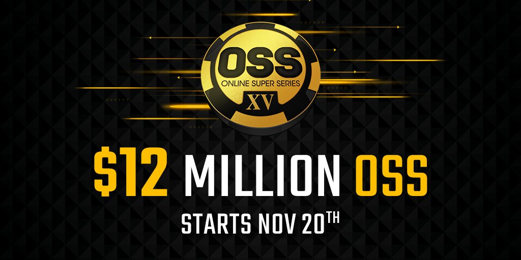 The $12 million GTD Online Super Series begins in 24 hours.  Have you reserved your spot for at least one of two $1M GTD main events yet?  https://t.co/FlBULGK8gU #onlinepoker #poker #playpoker https://t.co/BpETuwoTjG