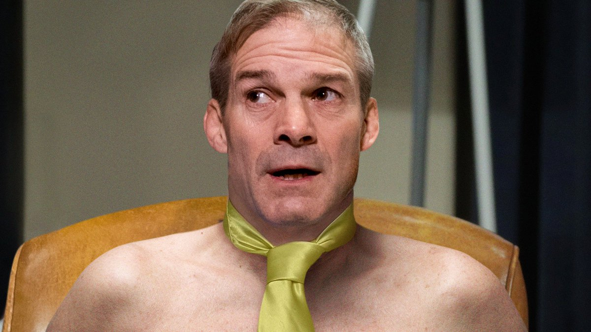 Replying to @TheOnion: Jim Jordan Arrives In Congress Displaying Even More Casual Look