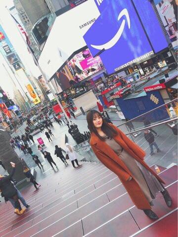 ただいま!日本っ☺︎NYで沢山のものを観て経験してきました。沢山吸収できたと思います。NYで会えたファンの皆さんも本当にありがとうございました😊thank youまた行きたい!素敵な場所でした(みく)
