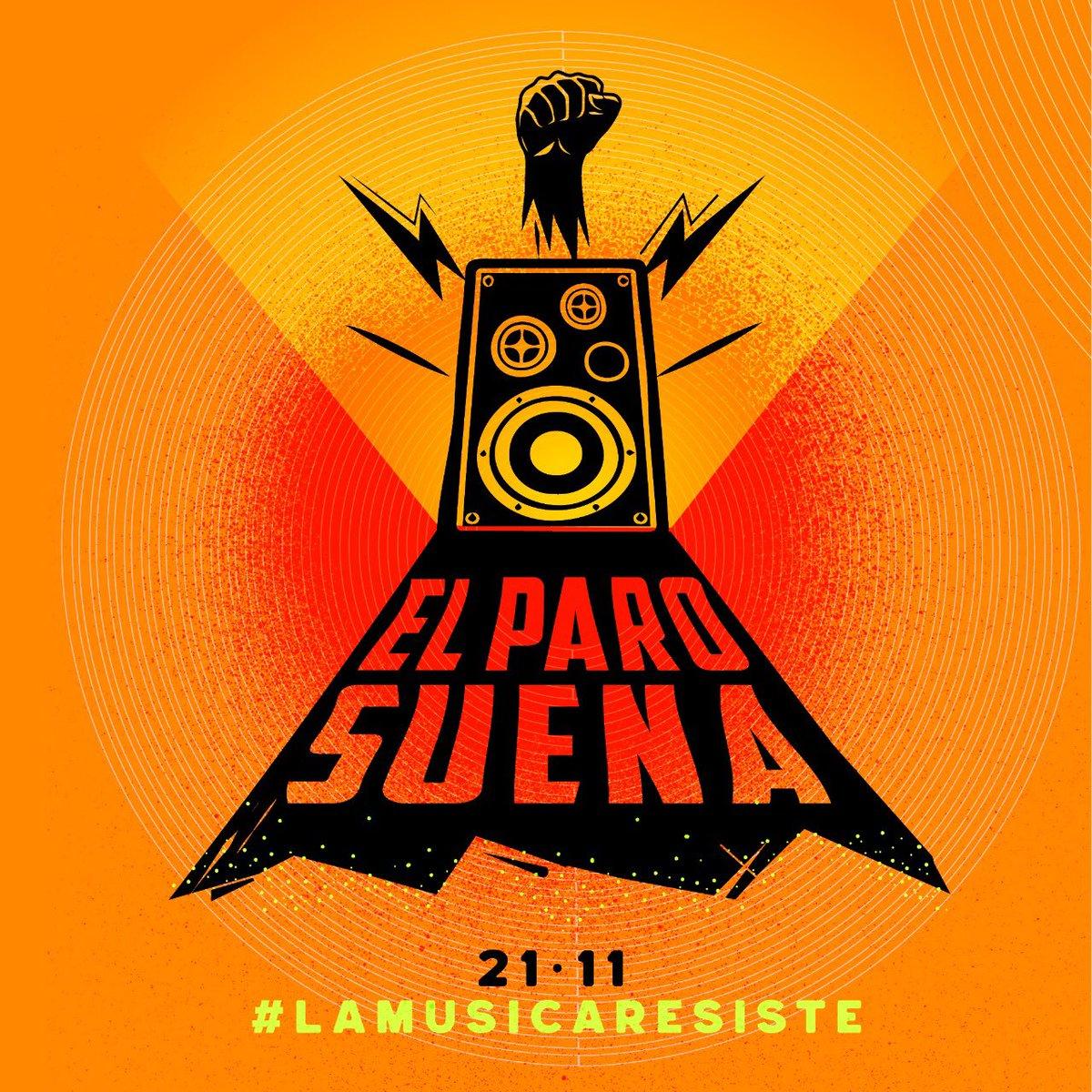 Nos une hacernos escuchar. #NosUneLaMúsica  #21N #ElParoSuena #LaMúsicaResistepic.twitter.com/7QSC0yFLSj