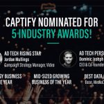 🎉It's been an exciting month for @Captify, with 5 award nominations under our belt! Looking forward to seeing industry friends at #TheWires this Thursday & @GrowingBizUK awards next week🏆To find out more & cast your vote, click here https://t.co/nNcckLtFD4 @exchangewire @domjoz