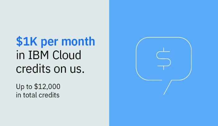 Use $12,000 of free #IBMCloud credits to access 130 unparalleled services including IBM Security, IBM Analytics and #IBMWatson. Your next step in client solutions begins for free: https://ibm.co/2WvA565