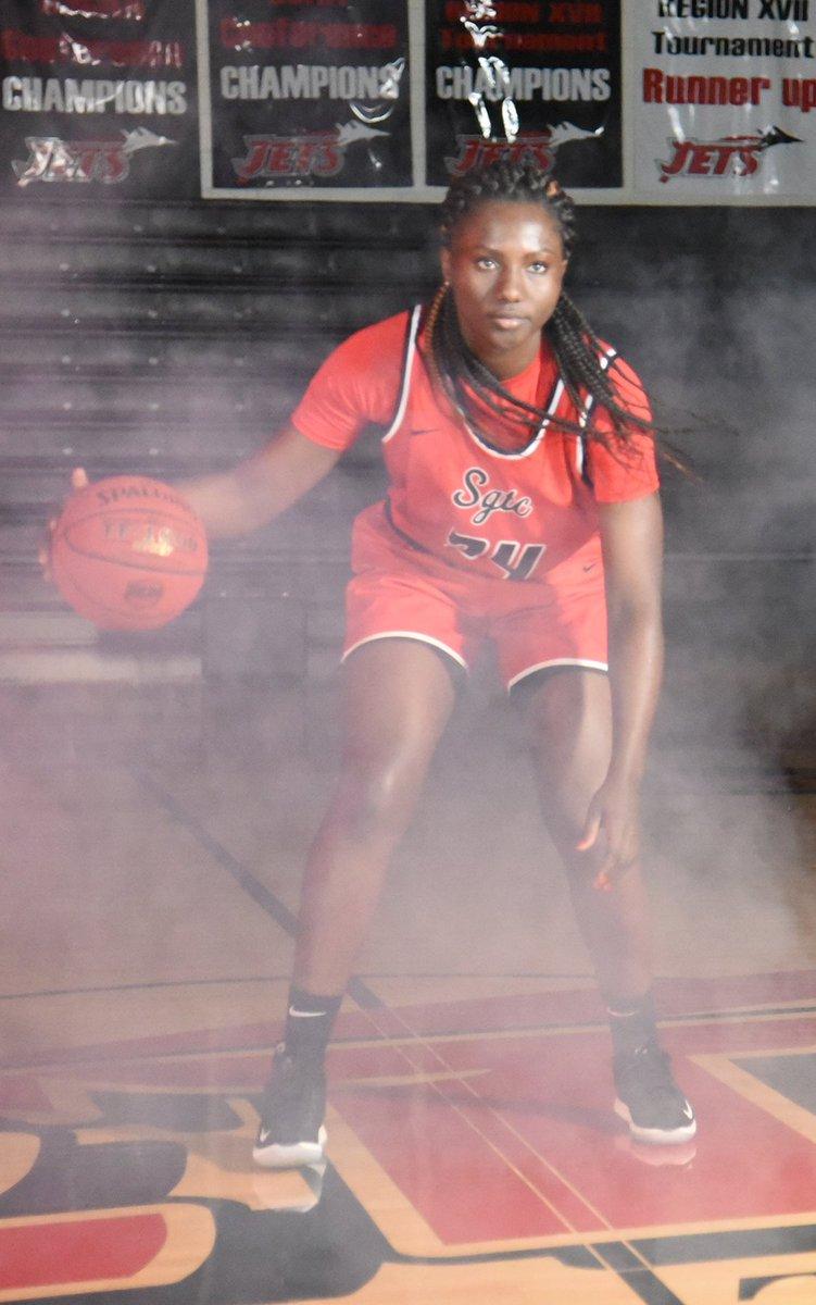 Femme Sikuzani has been named GCAA DI Women's Basketball Player of the Week.  Congratulations Femme! #LadyJets #POTW