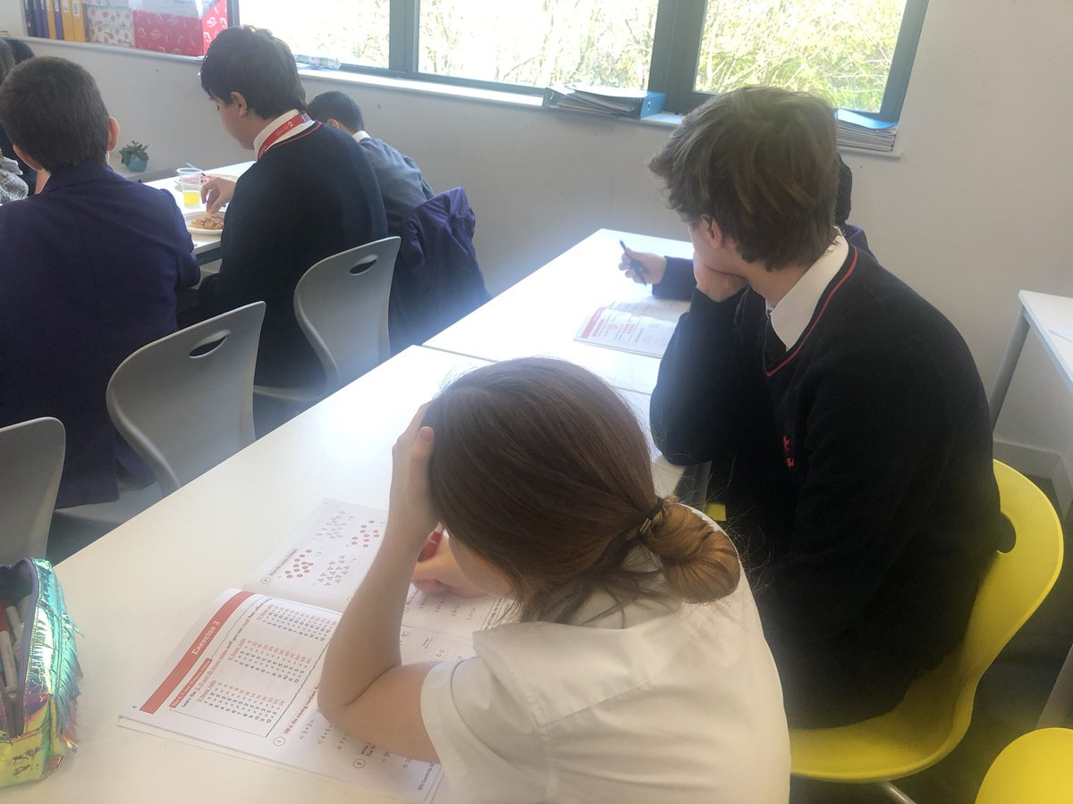 Peer maths tutoring taking place this lunchtime with 6th formers and Y7 @ACADEMYSTNICKS @AllSaintsColl