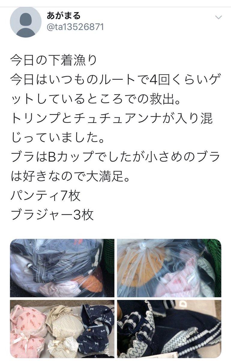 ゴミ捨て場のゴミを漁るという不法行為に加え女性ものの下着を漁るという卑劣な行為。そして、それを称賛する人達がリプ欄に湧いてる……日本終わってる。本当に気持ち悪い。