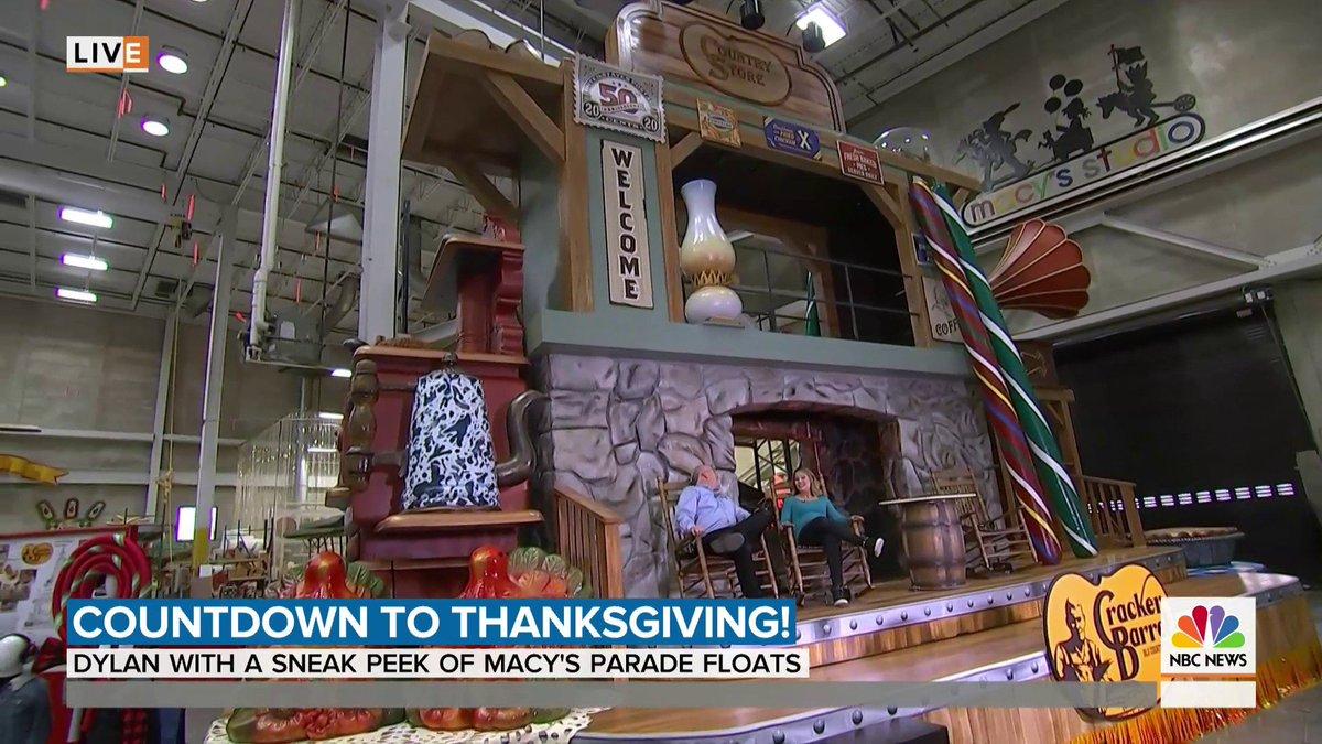 .@dylandreyernbc has a sneak peek at some of the newest #MacysParade floats!