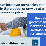 #DidYouKnow? Every federal governmentt purchase between $10,000-$250,000 is automatically set aside for small businesses, as long as there are at least 2 companies that can provide the product/service at a fair & reasonable price. https://t.co/xJDPrJjDTf #NationalEntrepreneursDay